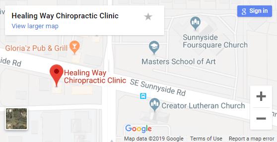 Map of Happy Valley Chiropractors